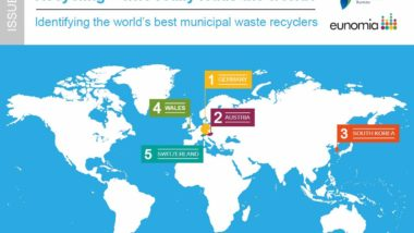 Map of the Top 5 recycling countries. March 2017